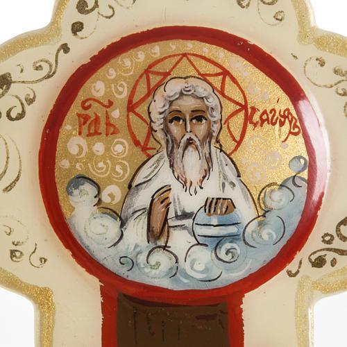 Trefoil cross icon, Mstjora, 17x13cm, Ivory colour 3