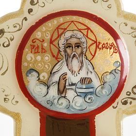Croce icona trilobata avorio Mstjora 17x13 s3