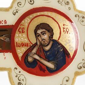 Croce icona trilobata avorio Mstjora 17x13 s4