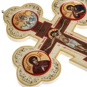 Croce icona trilobata avorio Mstjora 17x13 s6
