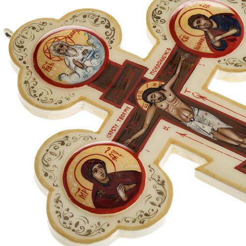Croce icona trilobata avorio Mstjora 17x13 6