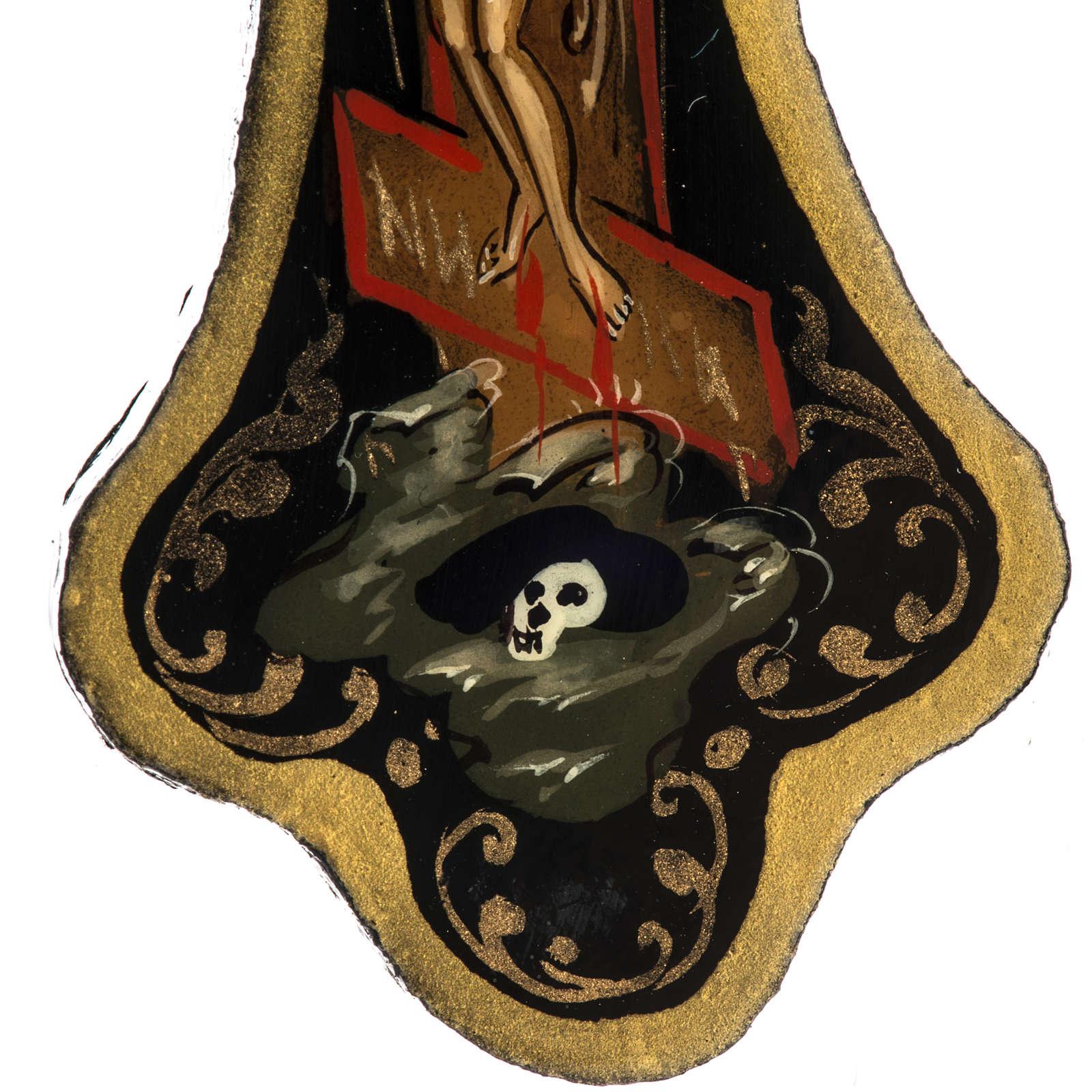 Croce icona tozza cartapesta 8x6,5 cm 4