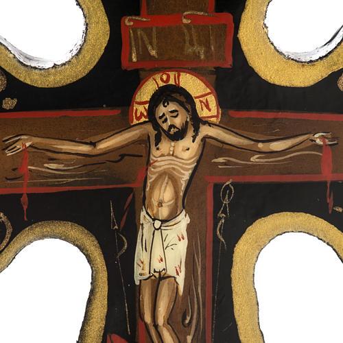 Cross icon in Papier-mâché 8x6.5cm 2