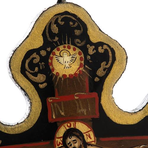 Cross icon in Papier-mâché 8x6.5cm 4