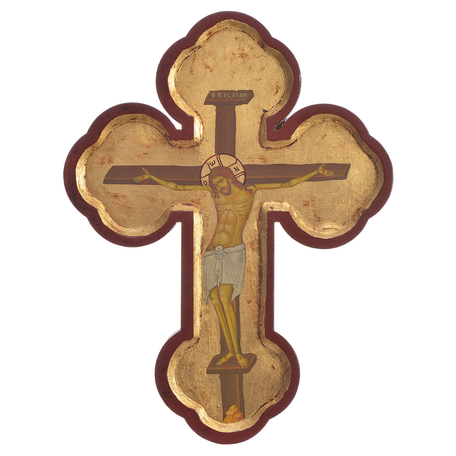 Cross-shaped icon with print on wood, Greece 28x19cm 4
