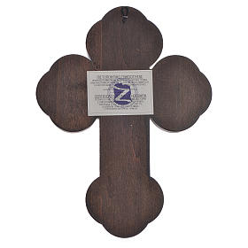 Cross-shaped icon with print on wood, Greece 28x19cm s2