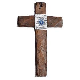 Croce Icona  Rilievo stampa su legno Grecia 22x13 s3