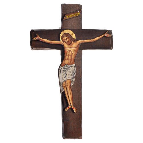 Croce Icona  Rilievo stampa su legno Grecia 22x13 1
