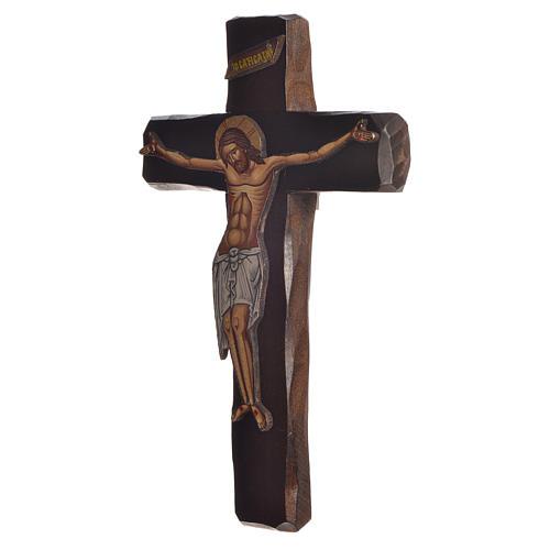 Croce Icona  Rilievo stampa su legno Grecia 22x13 2