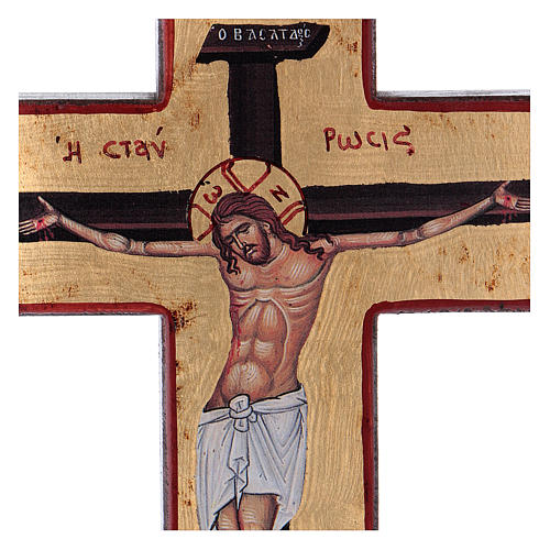 Cross-shaped icon with print on wood, Greece 2