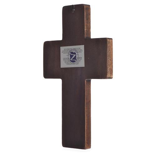 Croix Icône Mystères impression sur bois Grèce 22x36 cm 2