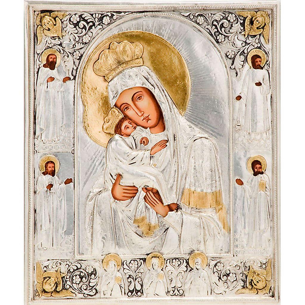 Icona Vergine di Poczajevsk argento lucido 4