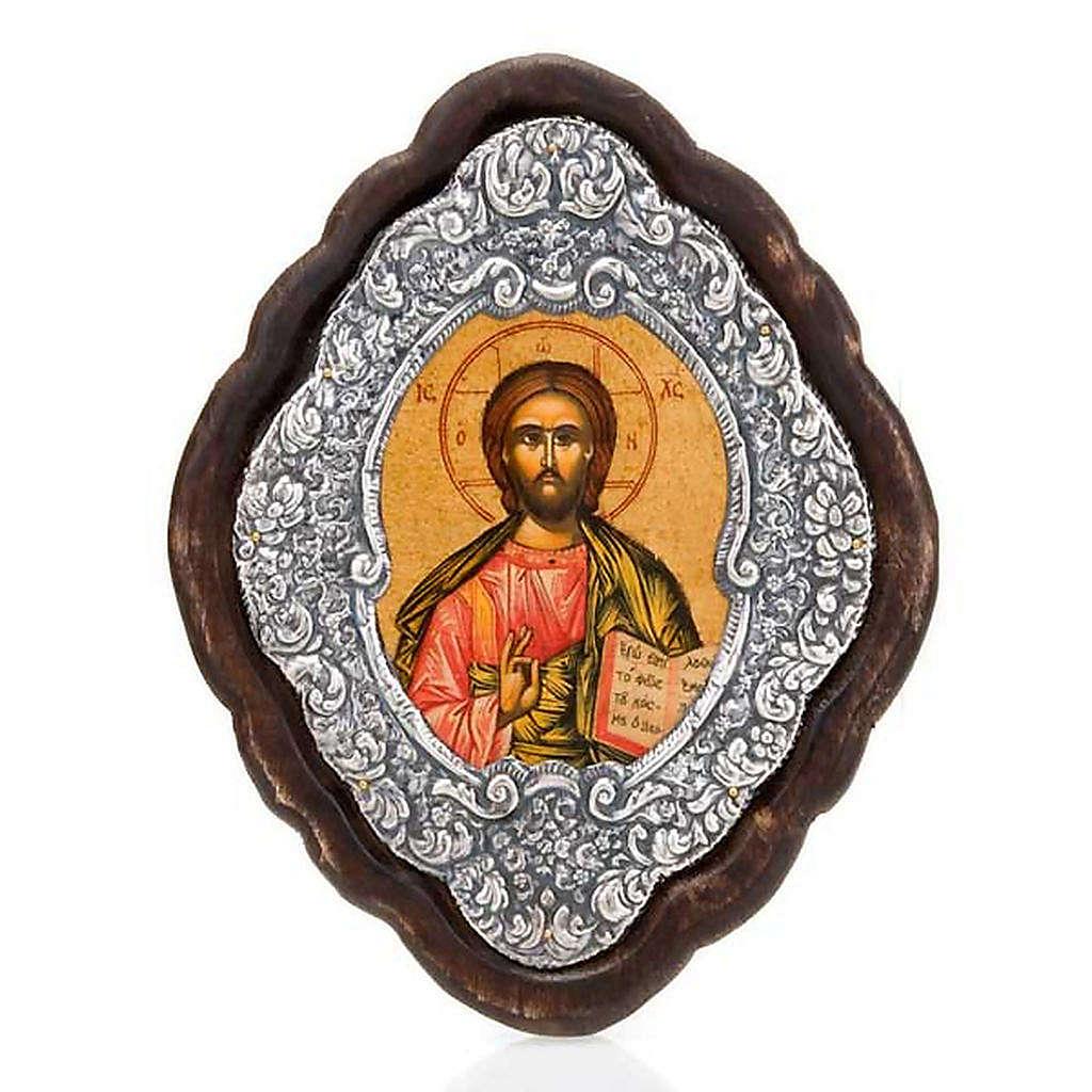 Icona cornice argento Pantocratore 4