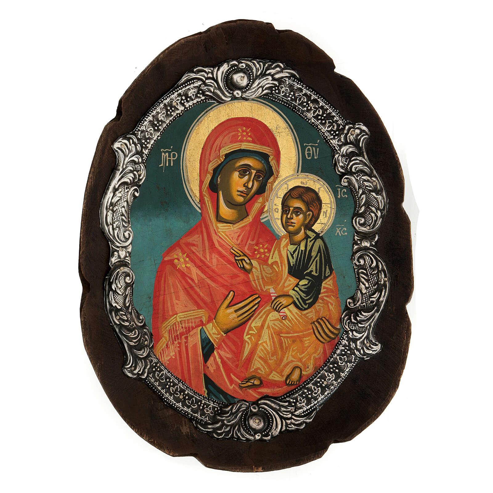 Ícono plata Virgen Hodigitria 4