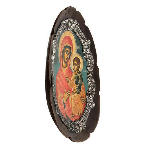 Ícono plata Virgen Hodigitria 3