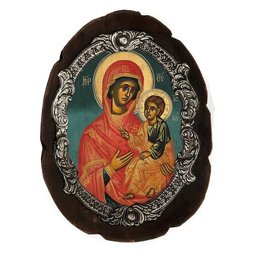 Ícono plata Virgen Hodigitria 5