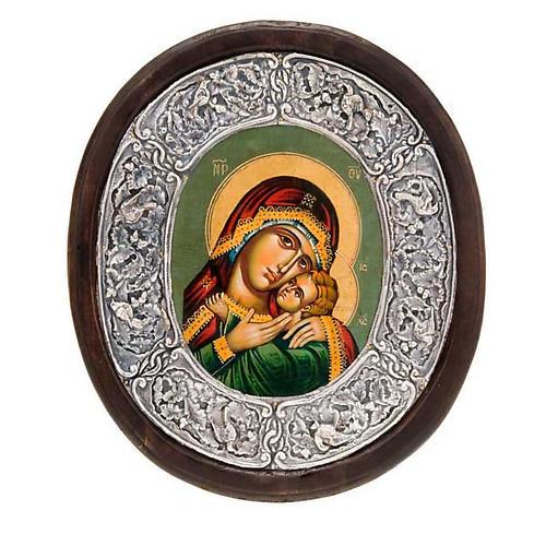 Icona argento Vergine di Kasperov 1