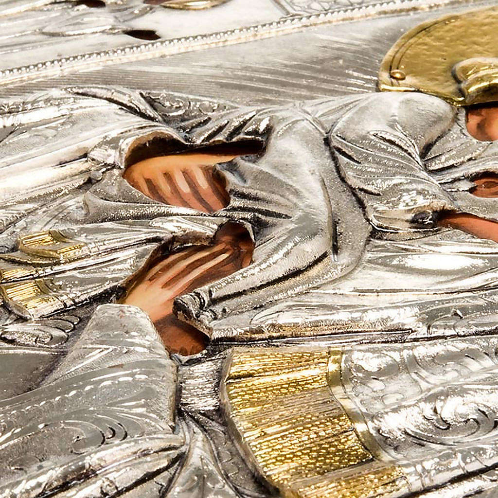 Icona Vergine di Poczajevsk argentata dorata 4