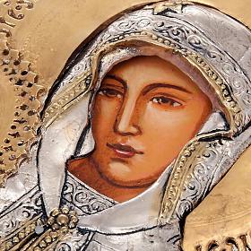 Icona Vergine di Kilskaia argentata dorata s5