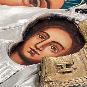 Icona Vergine di Kazan riza argentata dorata s3