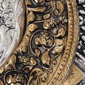 Icona Vergine di Kazan riza argentata dorata s5
