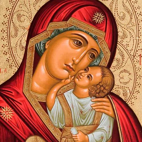Icona serigrafata argento 950 Madonna Tenerezza 2