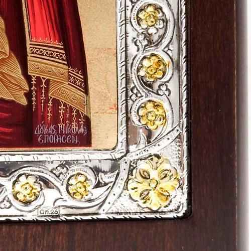 Icona serigrafata argento 950 Madonna Tenerezza 3