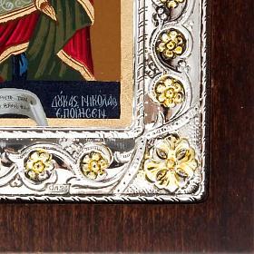 Icona serigrafata argentata dorata Madonna Incoronata s3