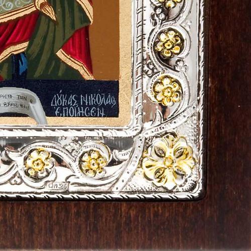 Icona serigrafata argentata dorata Madonna Incoronata 3
