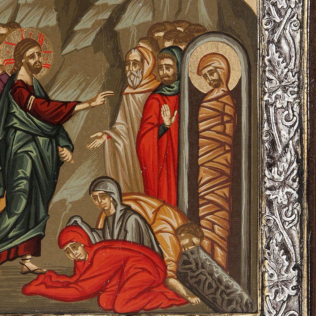 Icona Grecia Resurrezione di Lazzaro argento 925 4