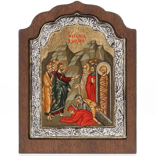 Icona Grecia Resurrezione di Lazzaro argento 925 1