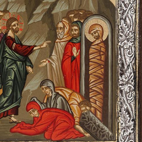 Icona Grecia Resurrezione di Lazzaro argento 925 2
