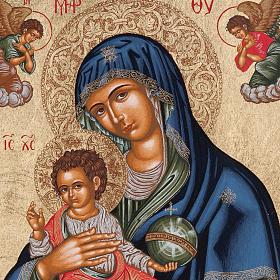 Icona Grecia Madonna con bimbo da tavolo argento 925 s2