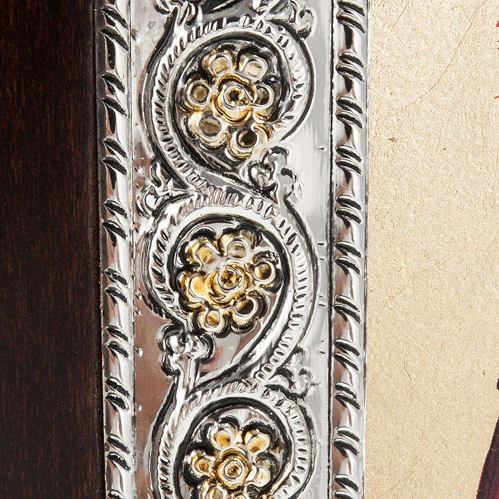 Icona Grecia Sacra Famiglia da tavolo argento 925 4
