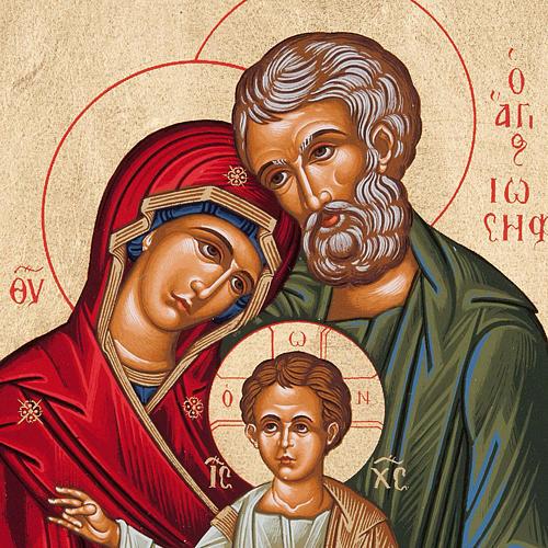 Icona Grecia Sacra Famiglia da tavolo argento 925 2