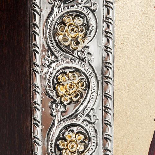 Icona Grecia Sacra Famiglia da tavolo argento 925 3