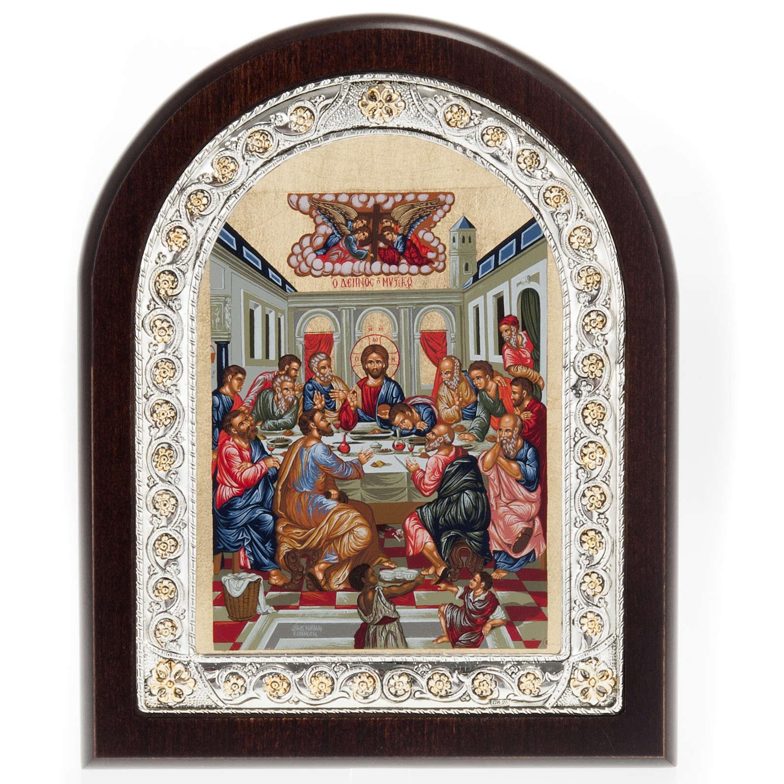 Icona Grecia Ultima cena da tavolo argento 925 4
