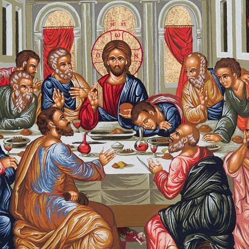 Icona Grecia Ultima cena da tavolo argento 925 2
