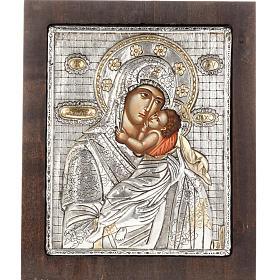 Icona Madonna con Bambino argento 950 s1