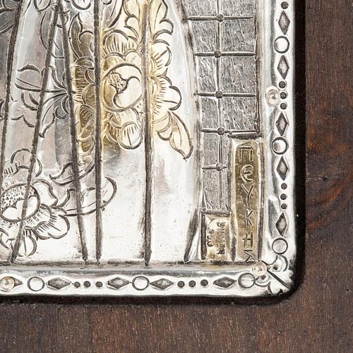 Icona Madonna con Bambino argento 950 3