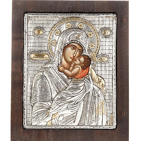 Our Lady with baby Jesus icon with silver 950 riza s1