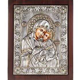 Icona Grecia Madonna Umilenie riza argento 950 s1