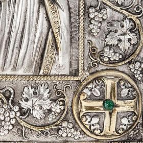 Icona Grecia Madonna Umilenie riza argento 950 s3