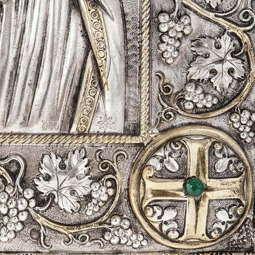 Icona Grecia Madonna Umilenie riza argento 950 3