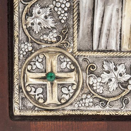 Icona Grecia Madonna Umilenie riza argento 950 4