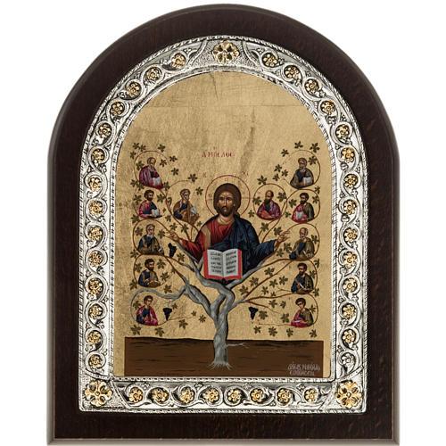 Icona Grecia Albero della Vita da tavolo argento 925 1