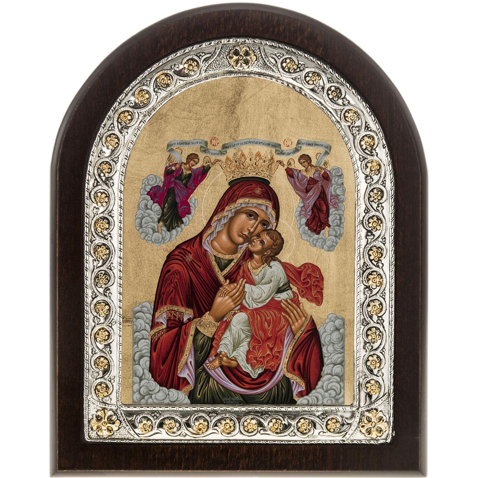 Icona Grecia Madonna della Passione da tavolo argento 925 4