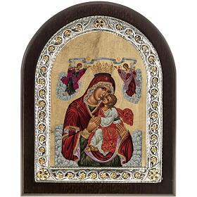 Icona Grecia Madonna della Passione da tavolo argento 925 s1