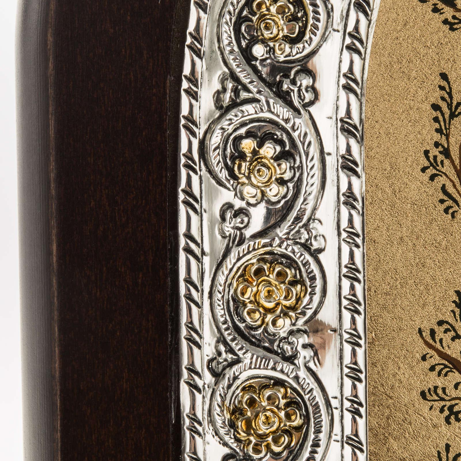 Icona Grecia Albero di Jesse da tavolo argento 925 4