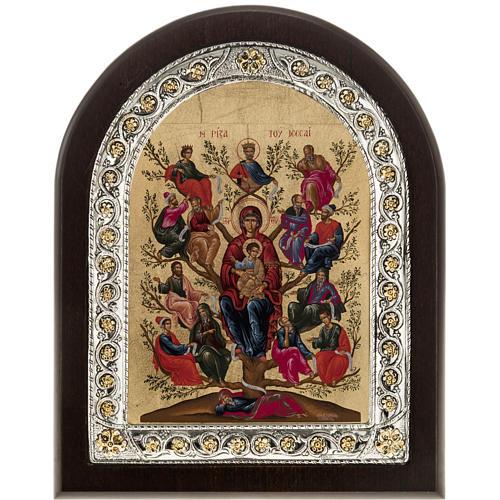 Icona Grecia Albero di Jesse da tavolo argento 925 1